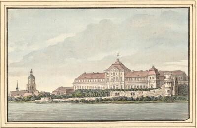 Blick auf Schloß Barby von François Lefèbvre
