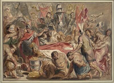 Die Totenfeier für Decius Mus von Jan Boeckhorst