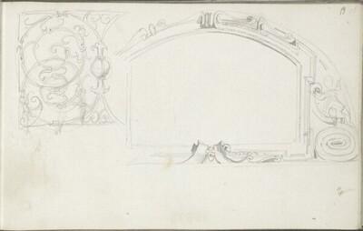 Kartusche zu Beginn des 17. Jahrhunderts; Rankenwerk von Hans Makart