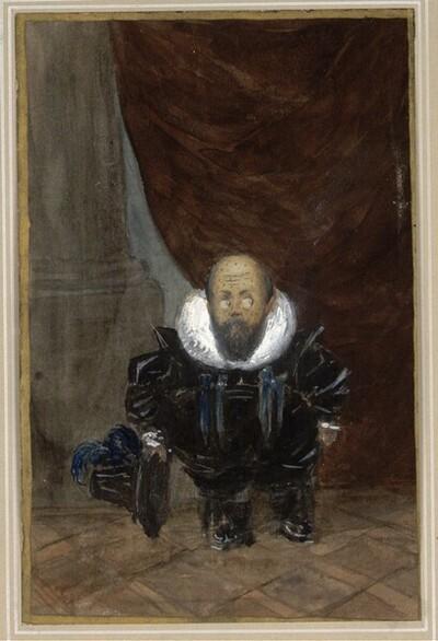 Maler Böhm im Kostüm des 17. Jahrhunderts von Friedrich König