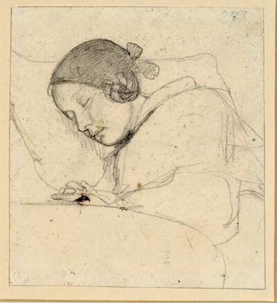 Schlafendes Mädchen von Rudolf Friedrich Wasmann
