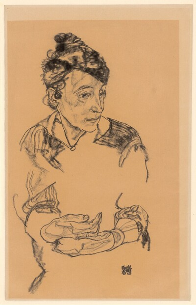 Die Mutter des Künstlers, Maria Schiele