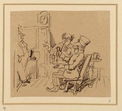 Herr und Frau Knopp: Knopp geht mal aus (?) von Wilhelm Busch