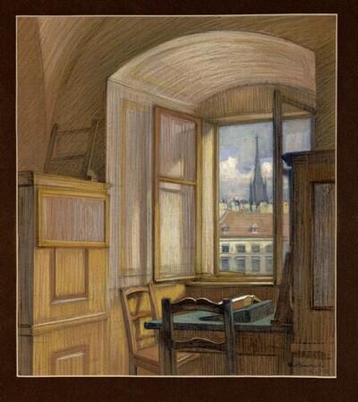 Fenster der alten Albertina von Alois Hänisch