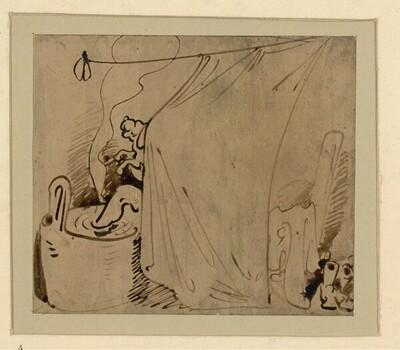 Das warme Bad (4) von Wilhelm Busch