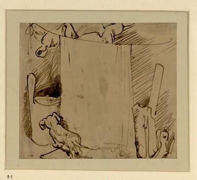 Das warme Bad 11 von Wilhelm Busch