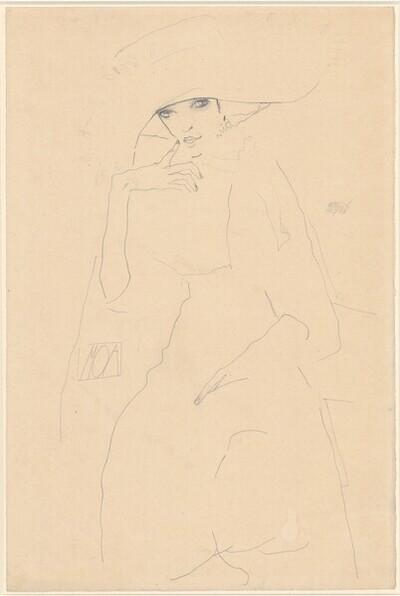 Bildnis der Tänzerin Moa von Egon Schiele