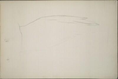 Skizze zu einem Flügel von Hans Canon