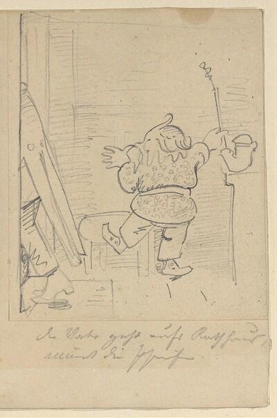 Krischan mit der Piepe 2 von Wilhelm Busch