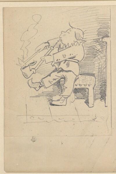 Krischan mit der Piepe 3 von Wilhelm Busch