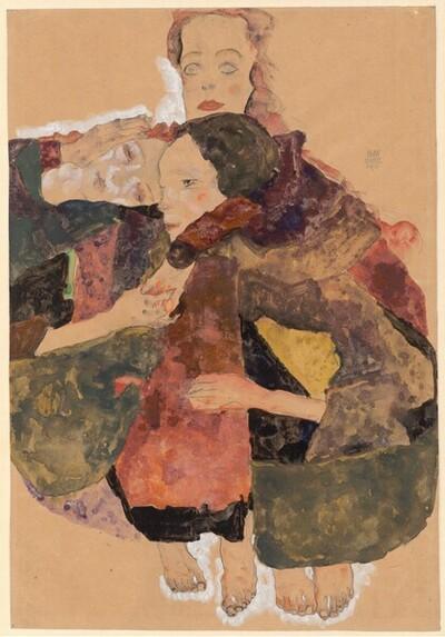 Drei Mädchen von Egon Schiele