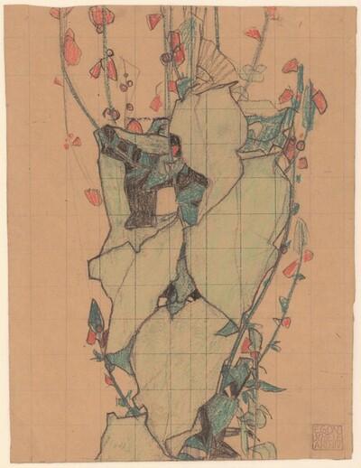 Stilisierte Blätter und Blüten von Egon Schiele