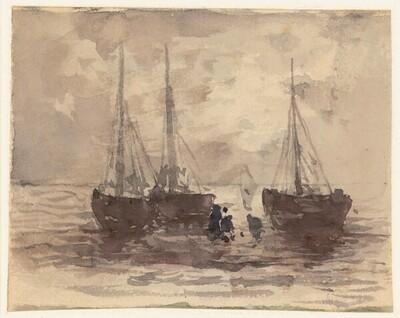 Fischerboote von Theodor von Hörmann