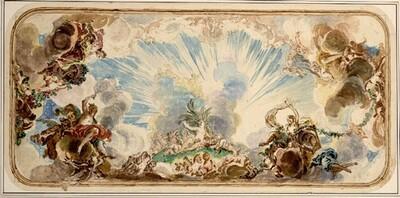 Der Sommer (Entwurf für ein Deckenbild) von Januarius Zick