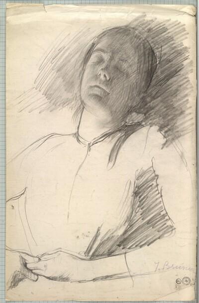 Schlafendes Mädchen von Joseph Auguste Brunier