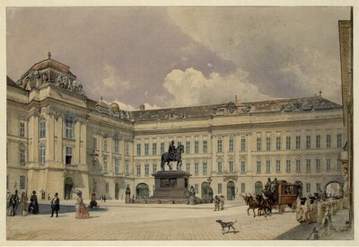 Der Josefsplatz in Wien von Rudolf von Alt