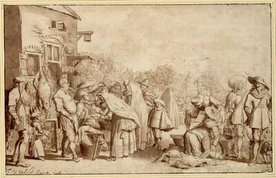 Der Geflügelmarkt von Jan van de Velde II.
