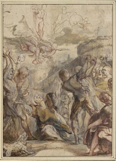 Das Martyrium des hl. Stephan (Ölskizze) von Jan Boeckhorst