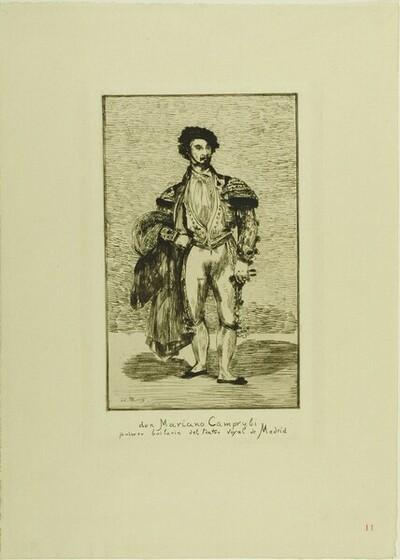 Trente Eaux - fortes originales; Mariano Camprubi von Edouard Manet