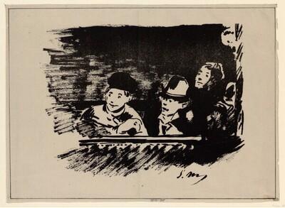 Auf der Galerie von Edouard Manet