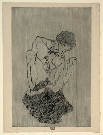 Trauernde von Egon Schiele