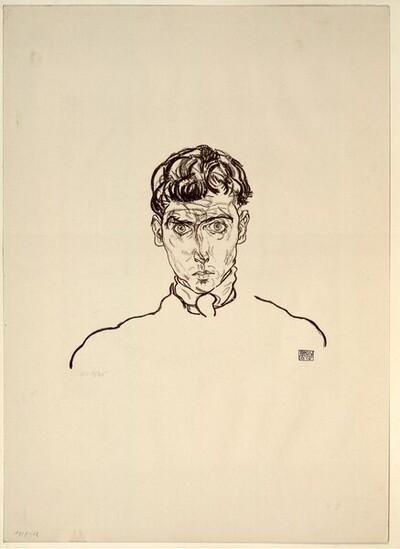 Porträt Paris Gütersloh von Egon Schiele