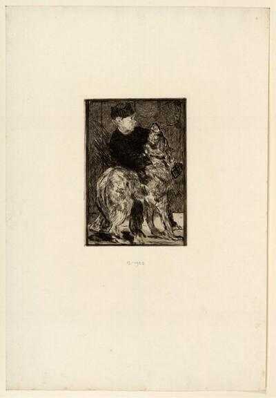 Der Junge und der Hund von Edouard Manet