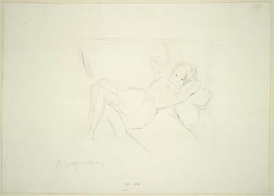 Kleines Mädchen im Lehnstuhl von Rudolf Grossmann
