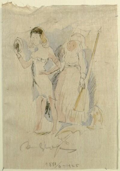 Frau und Mädchen von Rudolf Grossmann
