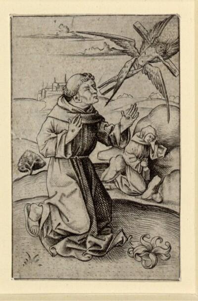 Die Stigmatisierung des heiligen Franziskus von Israhel van Meckenem