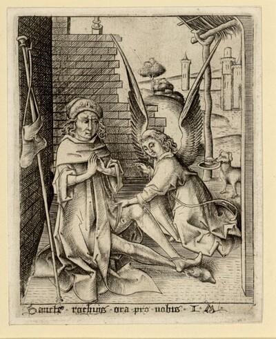 Der heilige Rochus von Israhel van Meckenem