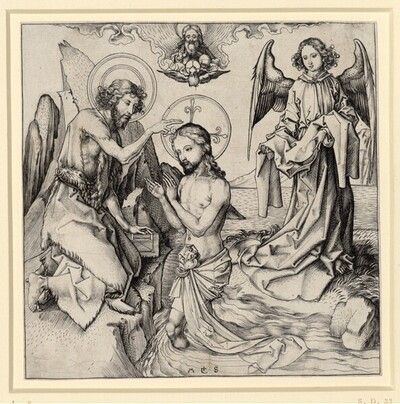 Die Taufe Christi von Martin Schongauer