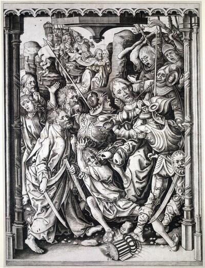 Die Gefangennahme Christi von Meister IAM von Zwolle