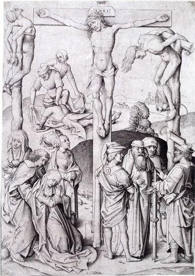 Die Kreuzigung Christi von Meister IAM von Zwolle