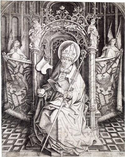 Heiliger Augustinus von Meister IAM von Zwolle