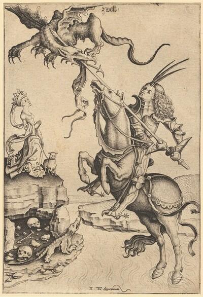 Heiliger Georg von Meister IAM von Zwolle