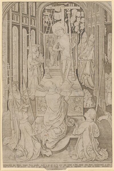Die Messe des heiligen Gregor von Meister IAM von Zwolle