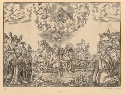 Die Taufe Christi von Lucas Cranach d. J.