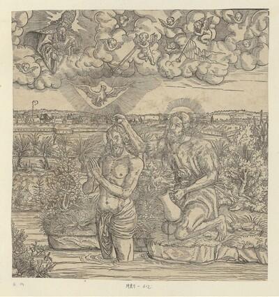 Die Taufe Christi von Jacob Lucius