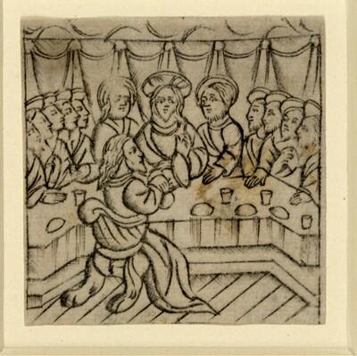 Das letzte Abendmahl von Meister der Auferstehung von 1461