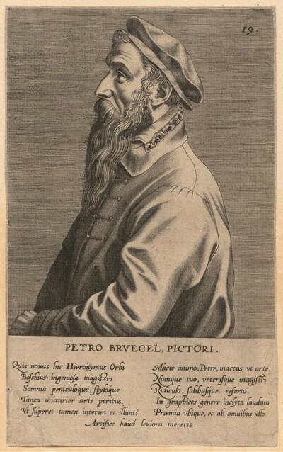 Porträt des Pieter Bruegel von Jan Wierix
