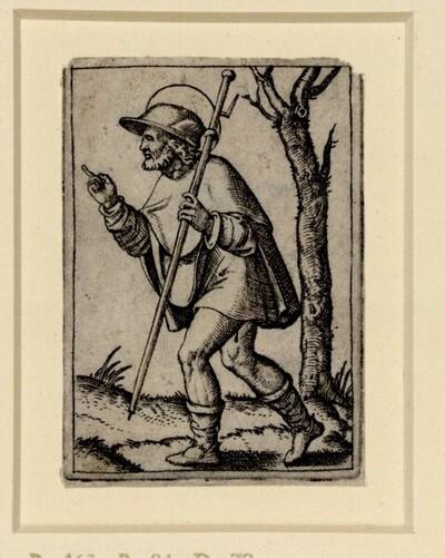 Heiliger Rochus von Marcantonio Raimondi