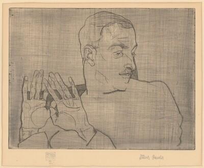 Bildnis Arthur Roessler von Egon Schiele