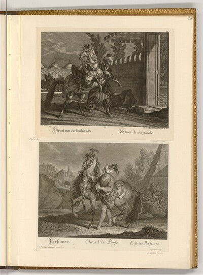 Divani von der linken Seite; Persianer von Johann Elias Ridinger