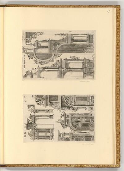 Architektur der fünf Säulen: Ionica, Corinthia von Gabriel Krammer