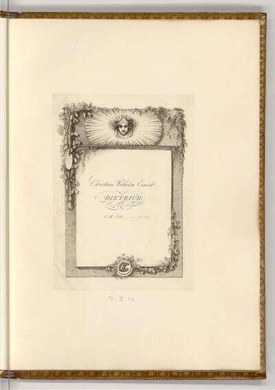 Christian Wilhelm Ernst Dietrich p. 1-89, C. H. Otto p. 90- von Joseph Fischer