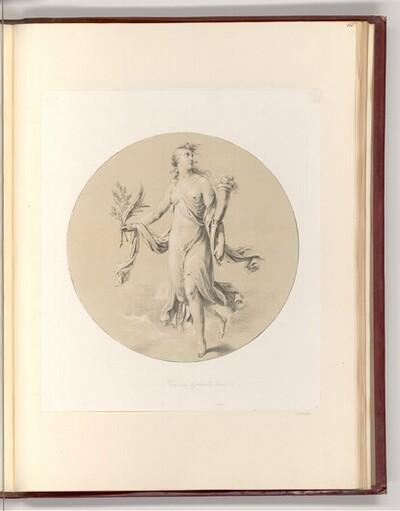 Personifikation, Der alles beglückte Friede (Rundbild) von Heinrich Friedrich Füger
