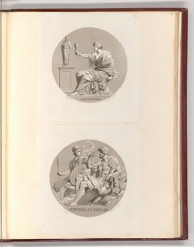 Personifikationen, Philosophia, Jupiter et Pallas (Rundbild) von Heinrich Friedrich Füger