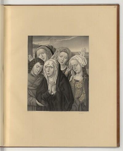 Maria und Johannes mit drei trauernden Frauen von Johann Nepomuk Strixner