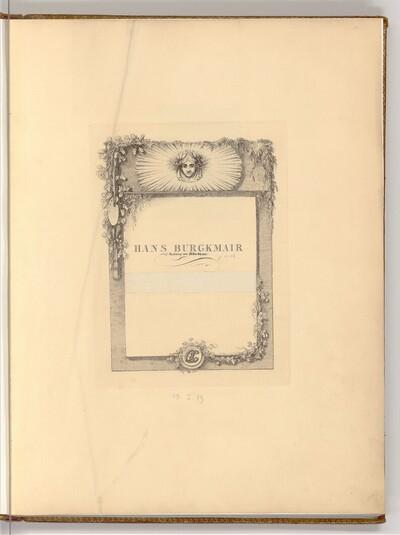 Hans Burgkmair p. 1-16 von Joseph Fischer